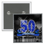 City Lights Fabulous Fifty 2 Inch Square Button