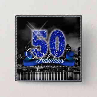 City Lights Fabulous Fifty ID191 Pinback Button