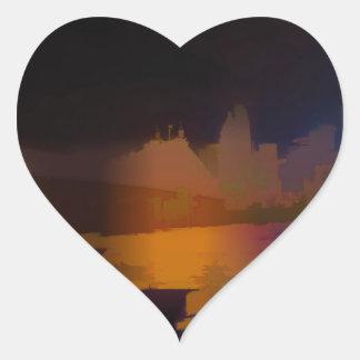 City Lights Heart Sticker