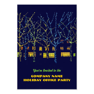 City Lights Holiday Office Party Invitations