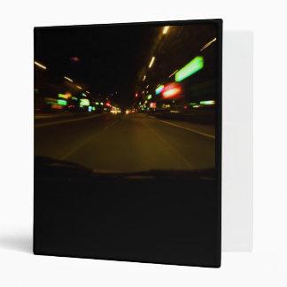 city lights - motion blurry 3 ring binder
