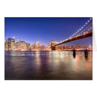 City Lights of Manhattan Card