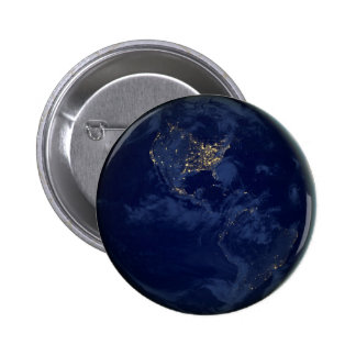 City Lights of the Americas Pinback Button