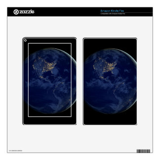 City Lights of the Americas Skin For Kindle Fire