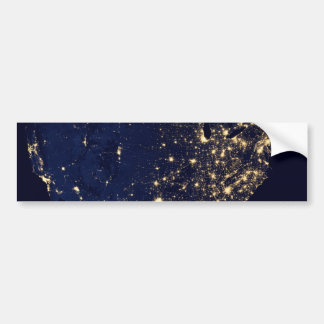 City Lights of the United States Bumper Sticker