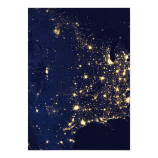 City Lights of the United States Card