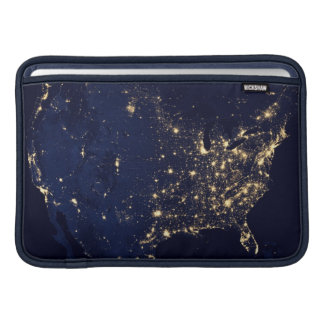 City Lights of the United States MacBook Sleeve