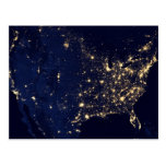 City Lights of the United States Postcard