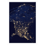 City Lights of the United States Personalized Stationery