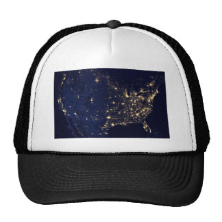 City Lights of the United States Trucker Hat