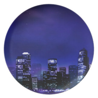 City Lights Party Plates