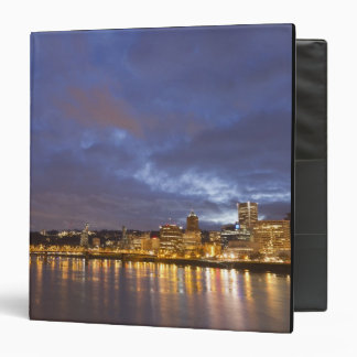 City lights reflected in the Willamette river Binder