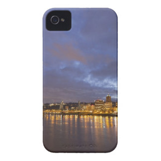 City lights reflected in the Willamette river iPhone 4 Cover