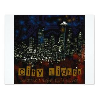 City Lights Seattle Card
