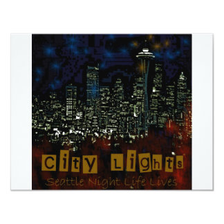 City Lights Seattle Personalized Invitation