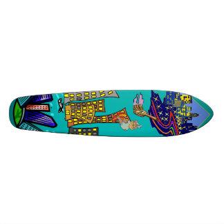 City Lights Skateboard Design
