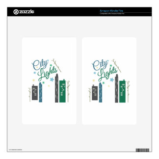 City Lights Decal For Kindle Fire