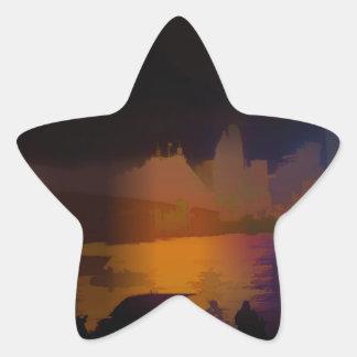 City Lights Star Sticker