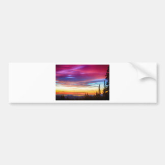City Lights Sunrise View From Rollins Pass Bumper Sticker