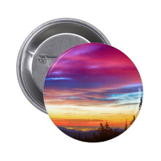City Lights Sunrise View From Rollins Pass Pinback Buttons