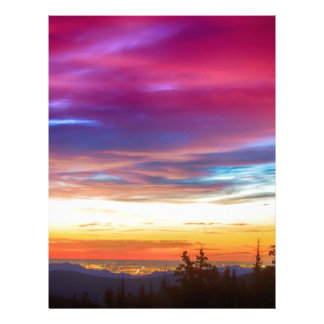 City Lights Sunrise View From Rollins Pass Personalized Letterhead