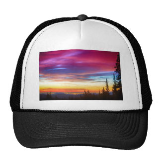 City Lights Sunrise View From Rollins Pass Trucker Hat