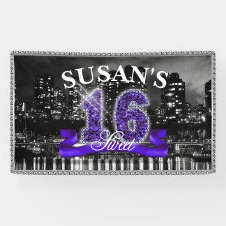 City Lights Sweet Sixteen Purple ID119 Banner