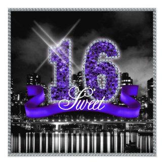 City Lights Sweet Sixteen Purple ID119 Card