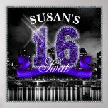 City Lights Sweet Sixteen Purple ID119 Poster