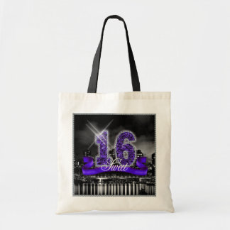 City Lights Sweet Sixteen Purple ID119 Tote Bag