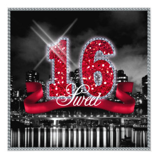 City Lights Sweet Sixteen Red ID242 Card