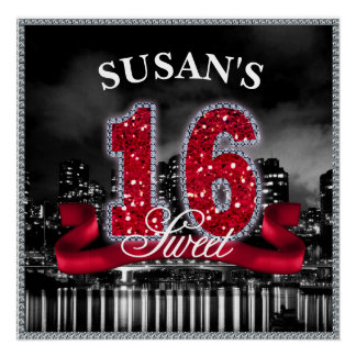 City Lights Sweet Sixteen Red ID242 Poster