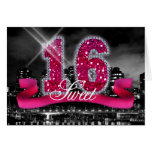 City Lights Sweet Sixteen Stationery Note Card