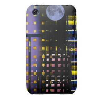 City Lights under a Full Moon, abstract Case-Mate iPhone 3 Case