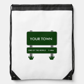 City Limits - End of the World 5 miles Drawstring Bag