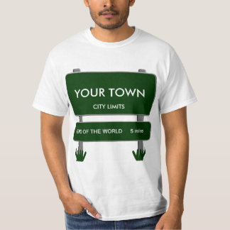 City Limits - End of the World 5 miles Template T-Shirt