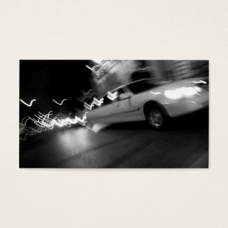 City Limousine at Night Business Card