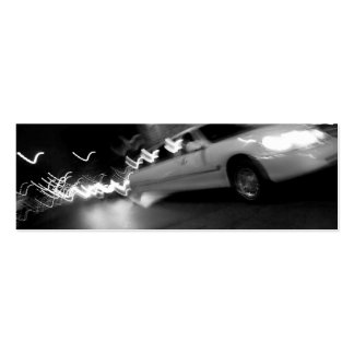 City Limousine at Night Business Card Templates