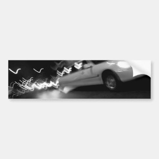City Limousine at Night Car Bumper Sticker