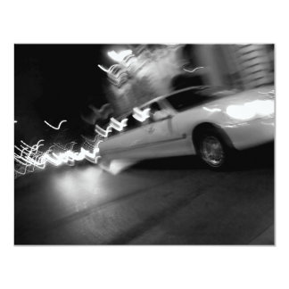 City Limousine at Night 4.25x5.5 Paper Invitation Card