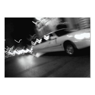 City Limousine at Night 3.5x5 Paper Invitation Card