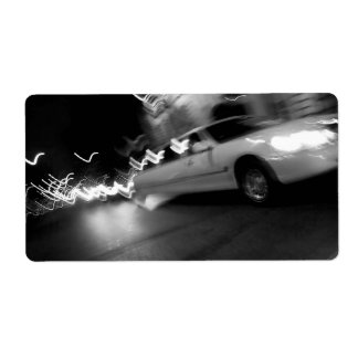 City Limousine at Night Shipping Labels