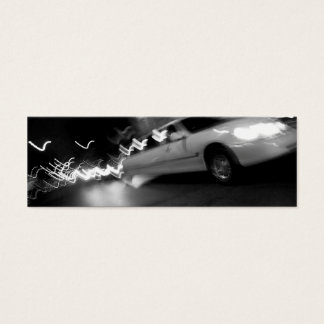 City Limousine at Night Mini Business Card