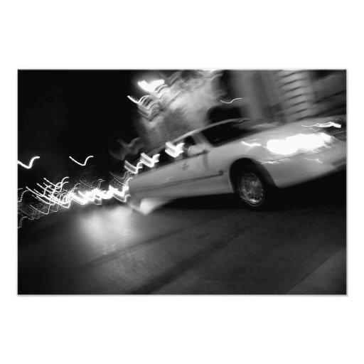 City Limousine at Night Photo Print