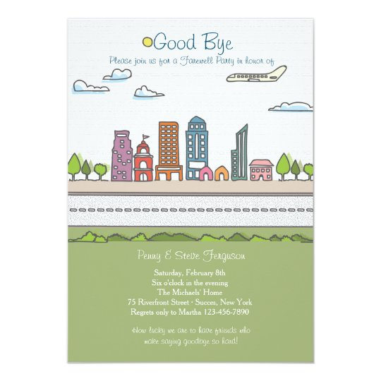 city line farewell party invitation zazzle com