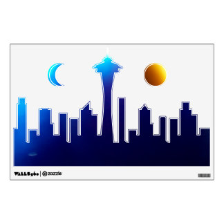 City-Line Sunset Wall-Decal© Roseanne Pears 2012. Wall Decal