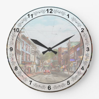 City - MA Gloucester - A little bit of everything Large Clock