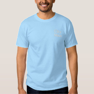 City Man Embroidered T-Shirt