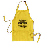 city manager aprons