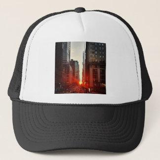 City Manhattan Sunset Town Buildings Skyscrapers Trucker Hat